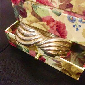 Gold tone wrist cuff